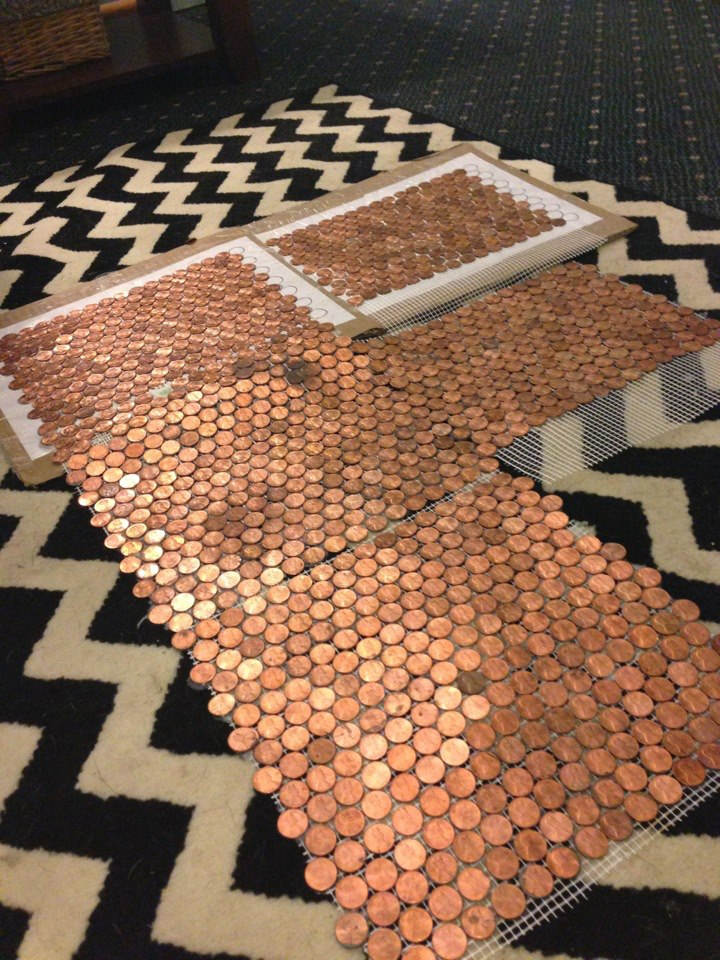 How To Make A Floor Out Of Real Pennies With A Penny Floor Template Hardman